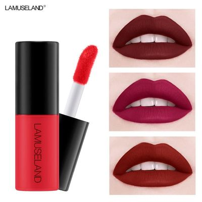1PC Waterproof Long-Lasting Matte Liquid Lipstick Easy To Carry 12 Colors Nude Lip Gloss 3.5g Velvet Red Lip Tint Makeup $2.85