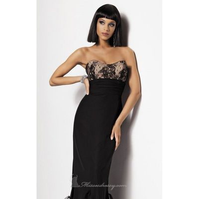 Ruffled Lace Gown Dresses by Jordan Couture Collection 1703 - Bonny Evening Dresses Online