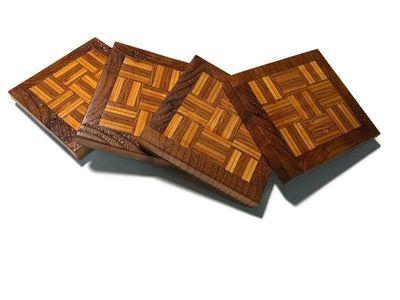 4 Handmade Wood Coasters $19.95