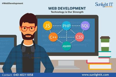 Sunlight IT is an outstanding web development company in Hyderabad with high quality web development solutions which best suits for your business needs. Web development is very important for online business as it includes web design, web server, network s...