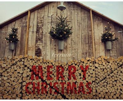 I'd have to use up the wood in the middle first! Or one could end up having Christmas decorations up in July.