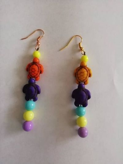 Turtle. Beaded earrings £5.00