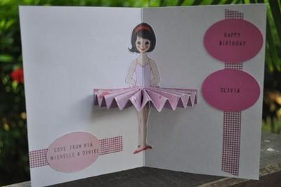 Ballerina Birthday Cards With Templates by Hey Mickey – Papercraft Birthday Card