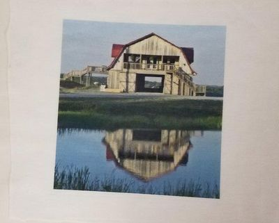 Horse Barn & Reflection in Pond, Fabric Panels, 8x8, Poly/Cotton Blend Quilt Fabric by the Square $9.95