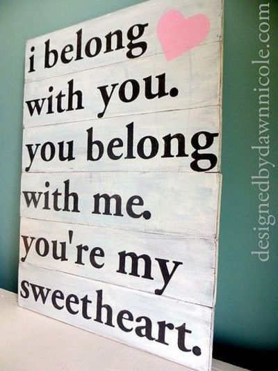 DIY bedroom sign | DIY Sweetheart Rustic Wood Sign. Cute for the master bedroom. | Casual ...