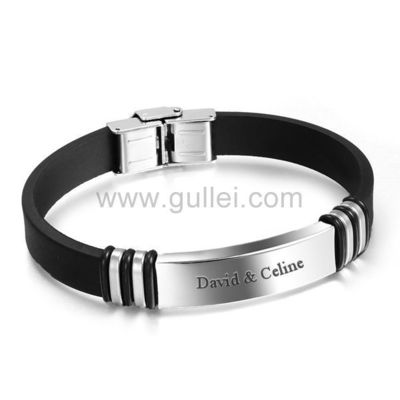 Engraved Leather Silicone Love Wristband for Him https://www.gullei.com/engraved-leather-silicone-love-wristband-for-him.html