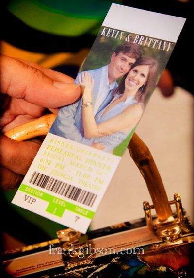 Rehearsal Dinner Ticket - cute idea