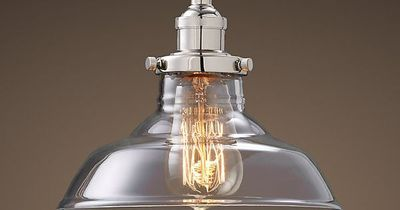Glass Barn Filament Pendant Polished Nickel #restoration Hardware $119