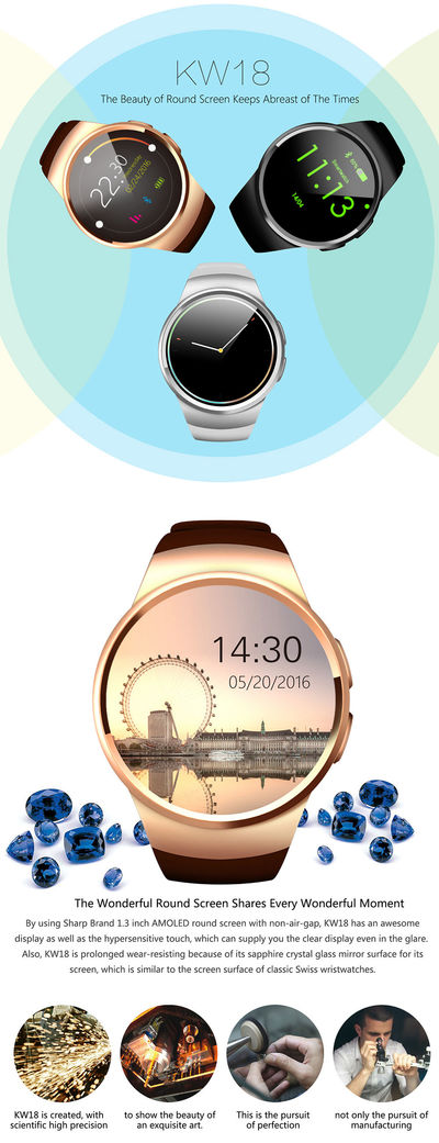 Bakeey KW18 2G Watch Phone TF Card Extension WIFI GPS Voice Search Weather Forecast Smart Watch