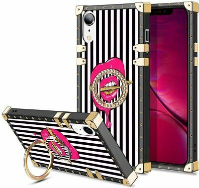 iPhone XR Case Pink Lips Bullet 6.1 Inch 80's Style Retro Fashion Vintage