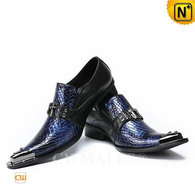 CWMALLS® Chicago Mens Embossed Leather Shoes CW708203[Patented Product, Global Free Shipping]