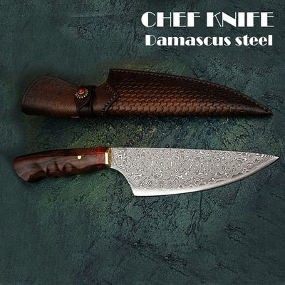 Handmade Chef Knife Laminated Damascus Steel Slicing Knife Home Cooking Tools Chef's Gift Kitchen Knives $119.00