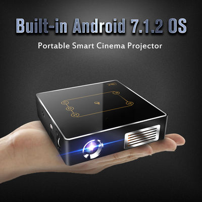 CSQ C9PLUS DLP Projector Android 7.1.2 BT4.0 WIFI 8000mA/h Wireless Portable Projector
