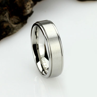 6mm Matte Stainless Steel Wedding Band Ring, Stainless Steel Promise Ring, Gift For Him $37.00