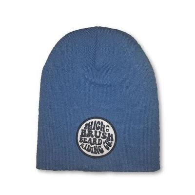 THIGHBRUSH® BEARD RIDING COMPANY Beanies - Patch on Front - Blue