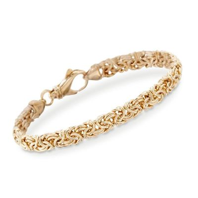 Byzantine Chain Bracelet in 18K Gold Plated $18.00 Free Shipping