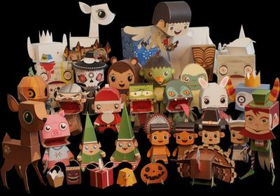 PaperCraft: http://www.macula.tv/downloads/papertoys/gallery/intro/gallery.htm#