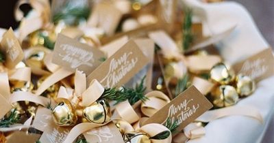 Love this bell favor idea for a holiday time wedding