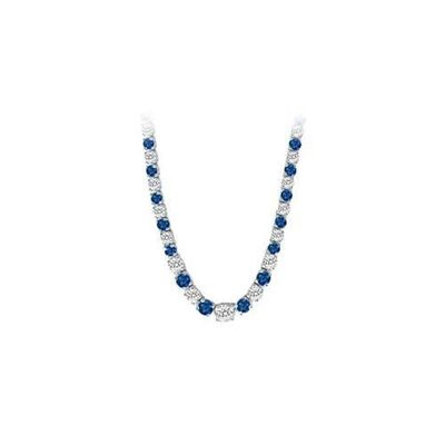 14K White Gold Sapphire & Diamond Eternity Necklace 17.00 CT TGW for just $19769.55. @thelavenderlilac