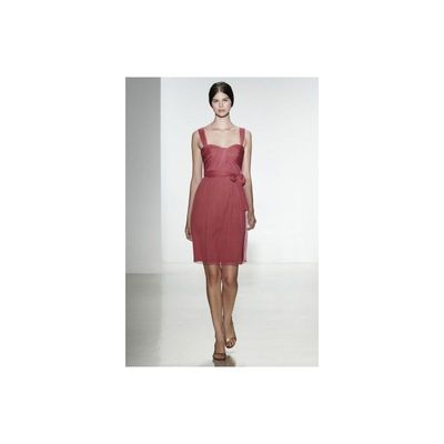 Simple A-line Spaghetti Straps Ruching Short/Mini Chiffon Evening Dresses - Dressesular.com