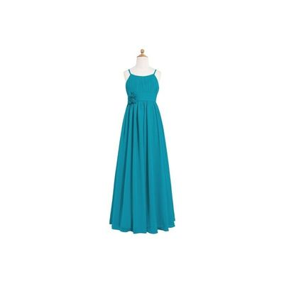 Jade Azazie Astrid JBD - Scoop Floor Length Chiffon Back Zip Dress - Charming Bridesmaids Store