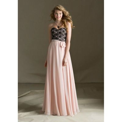 Elegant A-line Sweetheart Lace Ruching Floor-length Chiffon Bridesmaid Dresses - Dressesular.com