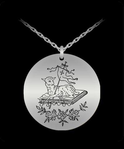 Lamb of God, necklace charm, $33.45