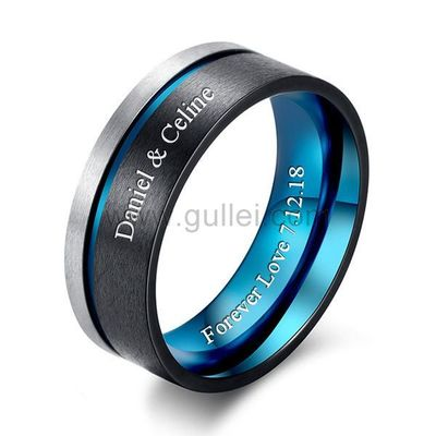 Personalized Promise Ring for Him 8mm Polished Titanium https://www.gullei.com/personalized-promise-ring-for-him-8mm-polished-titanium.html
