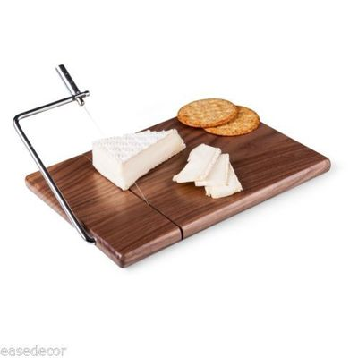 Meridian Stainless Steel, Black Walnut Cutting Board and Cheese Wire Slicer