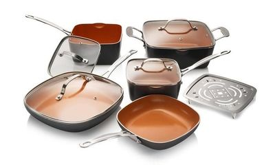 Gotham Steel Square 10-Piece Nonstick Cookware Set~114.95~Free Shipping $114.95