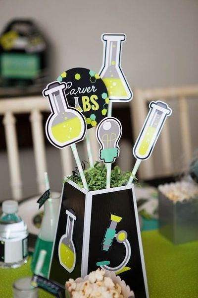 Experimenting with Science Lab Birthday Party ideas? Kara's Party Ideas is THE place for scientific party inspiration. See it here!