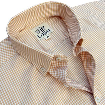 Camel Brown Gingham Button Down Shirt �'�1699.00