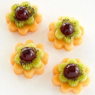 "How to Make Fruit Fairy Flowers: 1. Use a 2"" scalloped c... / foodies! - Juxtapost"