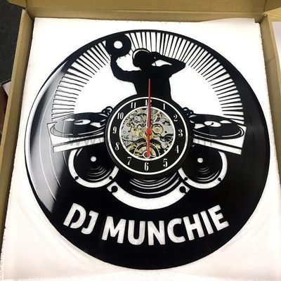 This vintage DJ name clock is made from a new and original vinyl music record. This creative handmade art is a perfect Christmas, Anniversary, Birthday, Valentines or a wedding gift for DJ friend.