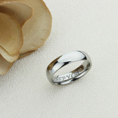Stainless Steel Wedding Band Men Women, 6mm High Polished Classy Domed, Stainless steel Promise Ring Men Women, Stainless Steel Band Ring $37.00