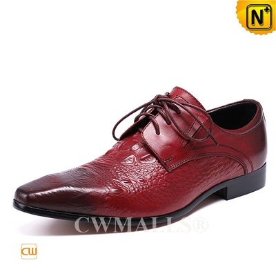 CWMALLS® Sydney Lace-up Embossed Leather Dress Loafers CW708122 [Patented Product, Global Free Shipping]