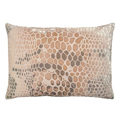 Latte Snakeskin Velvet Pillow by Kevin O'Brien Studio $311.00
