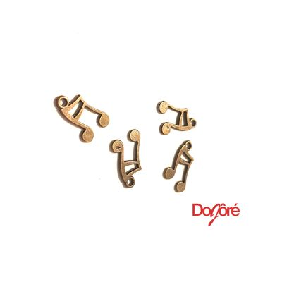 Pack of 30 Bronze Colour Musical Note Charms. Eighth Notes Music Pendants. 14mm x 10mm £4.99