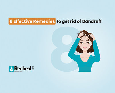 Dandruff is one of the most common skin issues that can make you uncomfortable and conscious. Check our latest blog article for quick yet effective remedies to fight it. https://www.redheal.com/blog/hair/8-effective-remedies-to-get-rid-of-dandruff/
