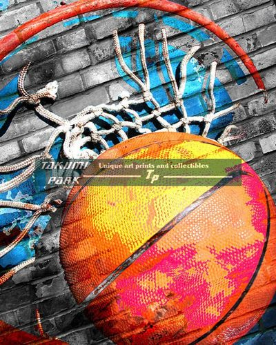 This basketball artwork is a photo print. The basketball art print comes in different sizes. #basketball #sportsart #basketballart #urbanart #urban #streetart