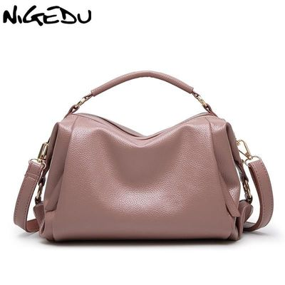 NIGEDU brand 2017 new Boston Women handbags PU Leather shoulder Crossbody bag Tote $44.16