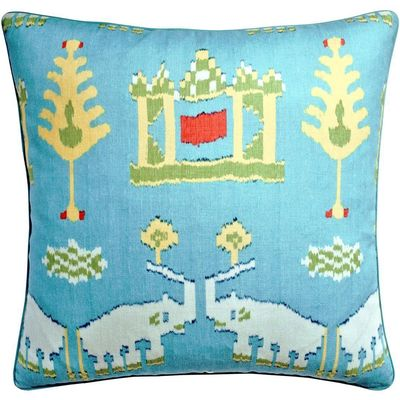 Kingdom Parade Turquoise Decorative Pillow $247.00