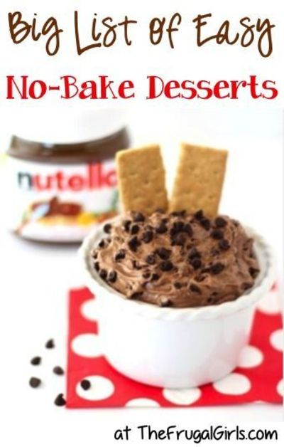Big list of easy no bake dessert recipes from for Easy no bake dessert recipes with few ingredients