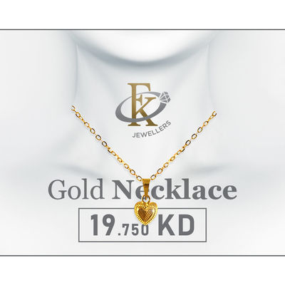You'll love to top off your look with this regal piece of Gold Necklace.