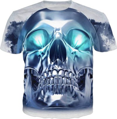 ROTS Metallic Skull Adult T-Shirt $25.00