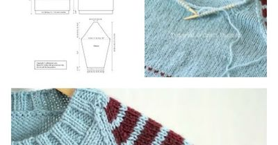 Knitting Pattern Chest Sizes : Get free knitting pattern of Raglan Pullover with stripes on... / knits and k...