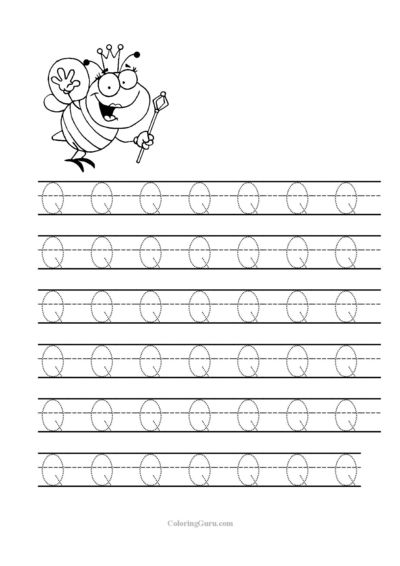 free printable tracing letter q worksheets for preschool free printable tracing sheets for pre. Black Bedroom Furniture Sets. Home Design Ideas