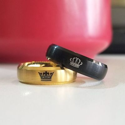 King and Queen Crown Anniversary Rings Set 6mm https://www.gullei.com/personalized-king-and-queen-crown-titanium-rings-for-2.html