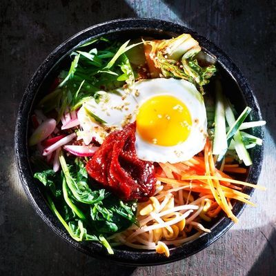 Slightly sweet but spicy gochujang is the secret ingredient in this South Korean-style salad