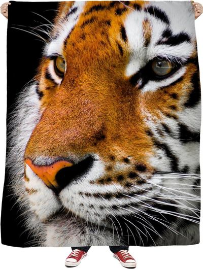 Tiger Face Fleece Blanket $65.00